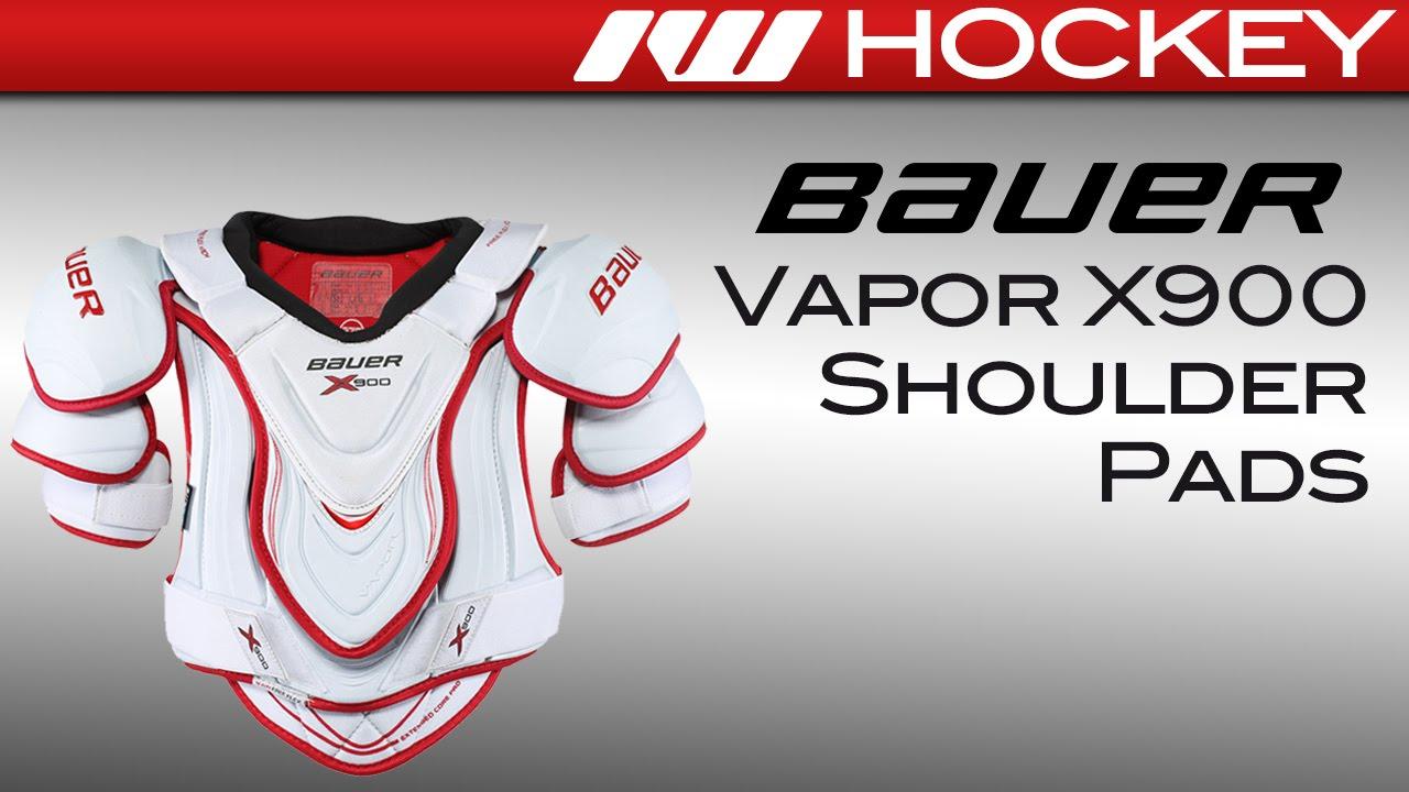 9ba220e4ef0 Bauer Vapor X900 Hockey Shoulder Pads Review - YouTube