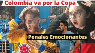 Colombia vs Uruguay Penales | Reacción de Hinchas