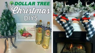 DOLLAR TREE CHRISTMAS DIYS | 5 EASY IDEAS | RED TRUCK & BUFFALO CHECK | CHIC ON THE CHEAP