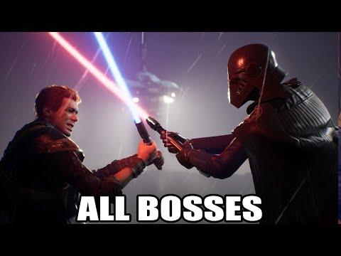 Star Wars Jedi: Fallen Order - All Bosses (With Cutscenes) HD 1080p60 PC