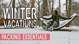 PACKING TIPS : WINTER TRAVEL ESSENTIALS
