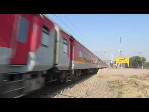 22414 Madgaon Rajdhani express crosses asaoti at 100