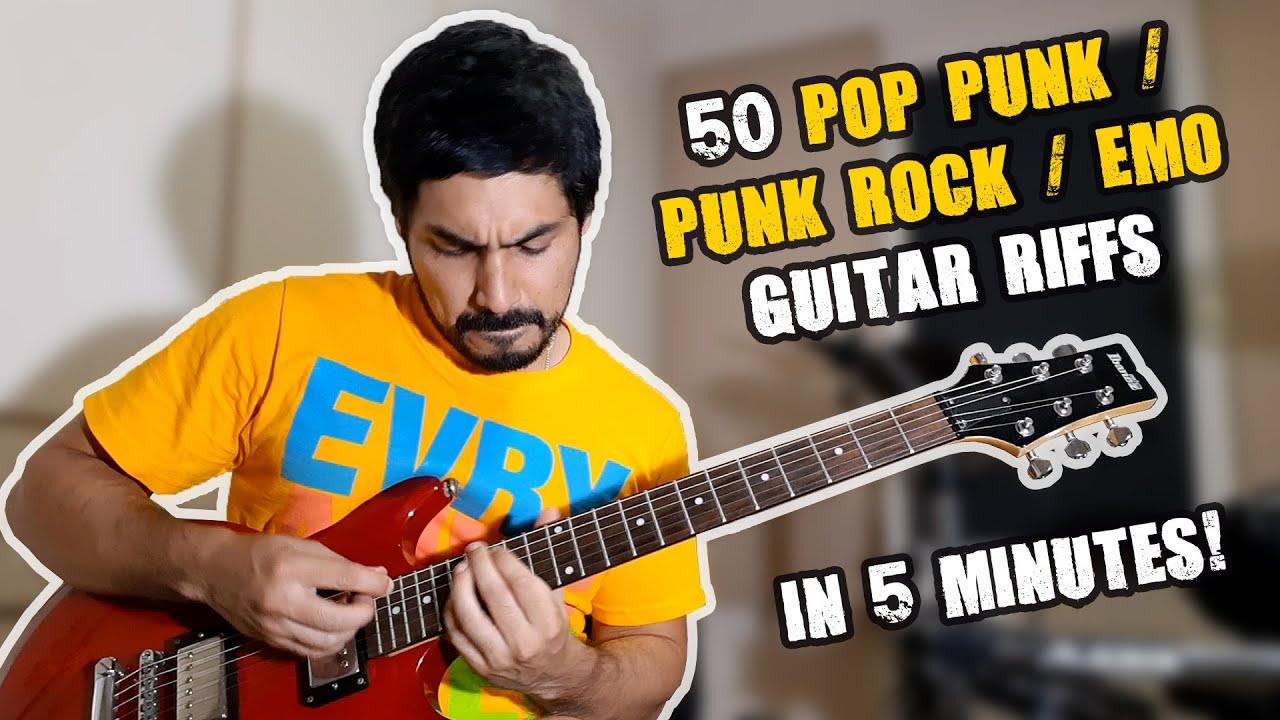 115 Pop Punk / Punk Rock / Emo Guitar Riffs in 15 Minutes