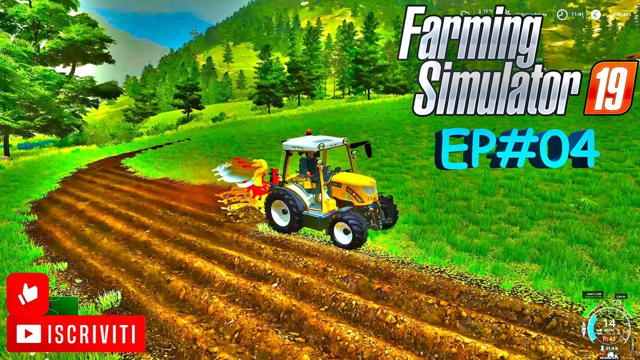 FS19 EP#04 STOCCAGGIO FIENO NUOVA ARATURA Alpine Farming DLC map Erlengrat FS19 ITA FARMING #sten84