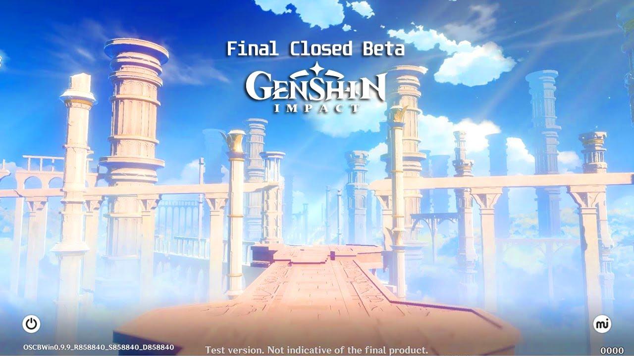 Genshin Impact Global Final Closed Beta Login Screen Opening Pc Android Ios Ps4 2020 Youtube