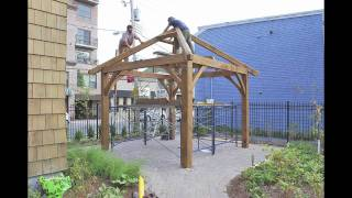 Gillis & Company Timber Frames - A Timber Frame Gazebo for Margaret