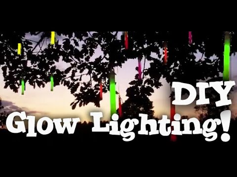 How To Make A Diy Glow In The Dark Lighting Party Decoration