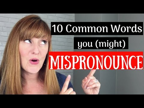 10 Common English Words You (Might) Mispronounce | Common Mistakes | English Like a Native