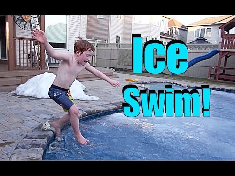 💦⛄ POLAR PLUNGE CHALLENGE! ⛄💦 - Ultimate First Swim of the Year - vlog e66
