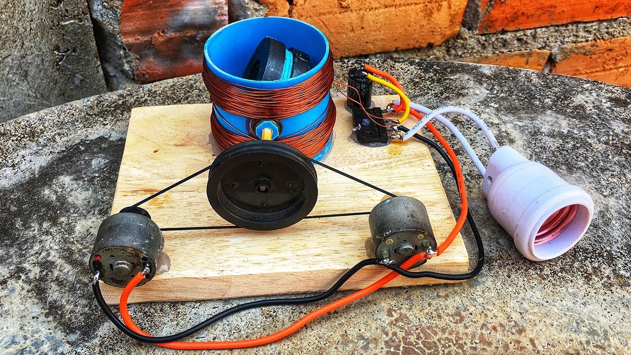 Electric 100% free energy motor kit with magnet 2019 diy science experiment project