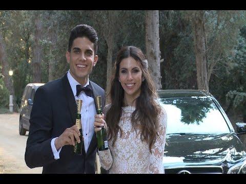 Melissa Jiménez y Marc Bartra ya son marido y mujer