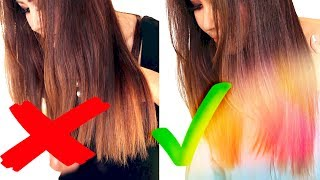 ★MY HOME CARAMEL HAIR COLOR ROUTINE - DRUGSTORE! 💜 OMBRE HAIRSTYLES | REVLON COLORSILK