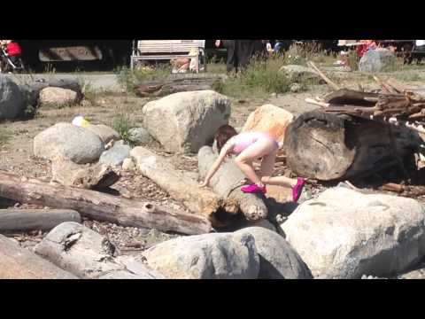Joan climbing around June 13 2015 John Lawson Park