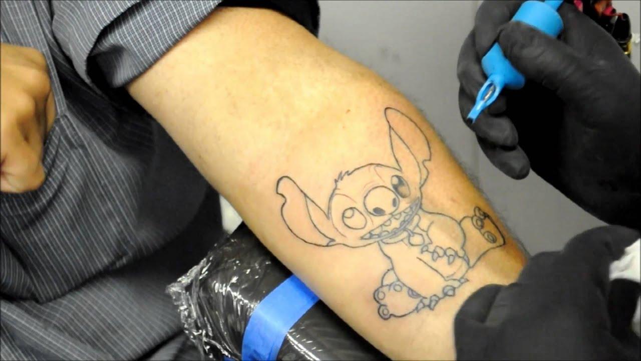 Tattoo Of Stitch From Lilo And Stitch Youtube