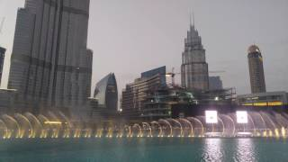 World's largest choreographed fountain system at Burj Khalifa (Dubai)