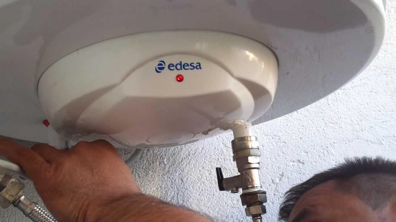 Como reparar fuga de agua de Termo Elctrico Edesa 100