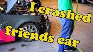 Mein Drift endet mit Unfall