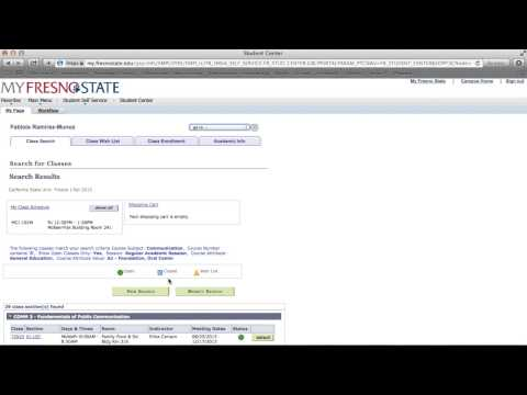How to Register for classes - Fresno State 2015