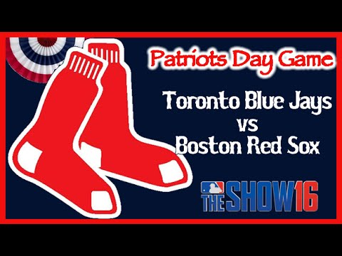 MLB The Show 16 Boston Red Sox  Patriots Day Game