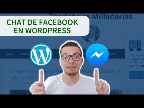Como Agregar FACEBOOK  Messenger A Tu Sitio Web De WordPress