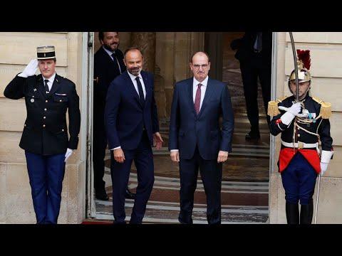 انتقال السلطة في الحكومة الفرنسية: رئيس الوزراء السابق إدوار فيليب -يسلم المشعل- لجان كاستكس  - نشر قبل 2 ساعة