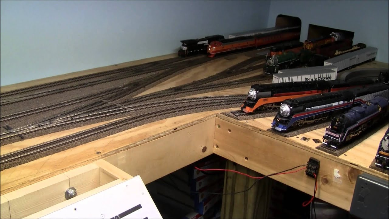 How to build a train layout in a small space youtube - Ho scale layouts for small spaces concept ...