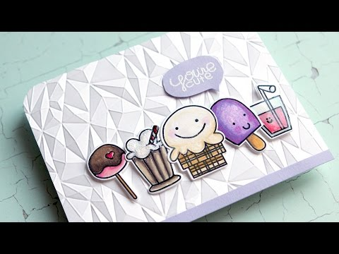Colored Pencils & Paper Smooches Sugar Rush Stamps & Dies