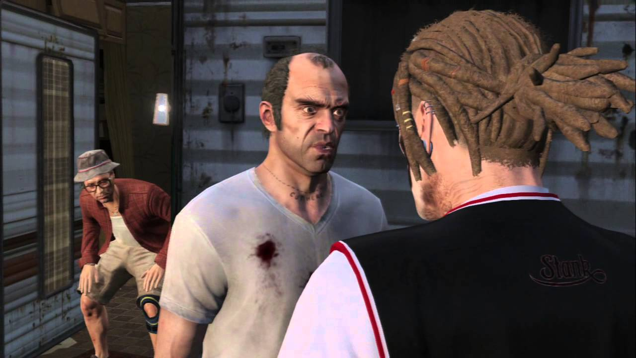 Grand Theft Auto V Nervous Ron Trevor Impotent Rage Statue Destroyed Trailer Cutscene Youtube