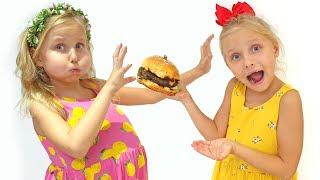 Алиса и Ева учат правильно питаться