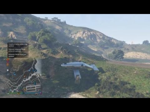 Grand Theft Auto V Flying Upside Down...On the ground