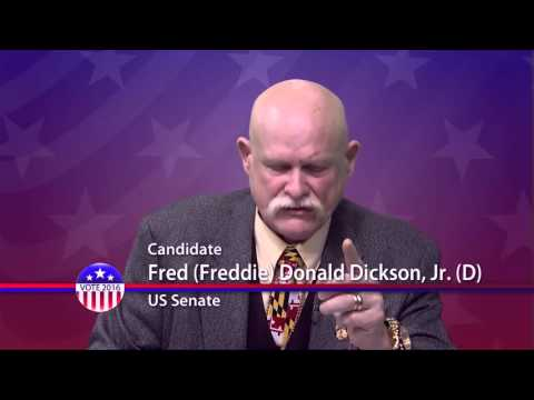 Freddie Donald Dickson Jr. (D), Candidate for U.S. Senate from Maryland - Primary Election