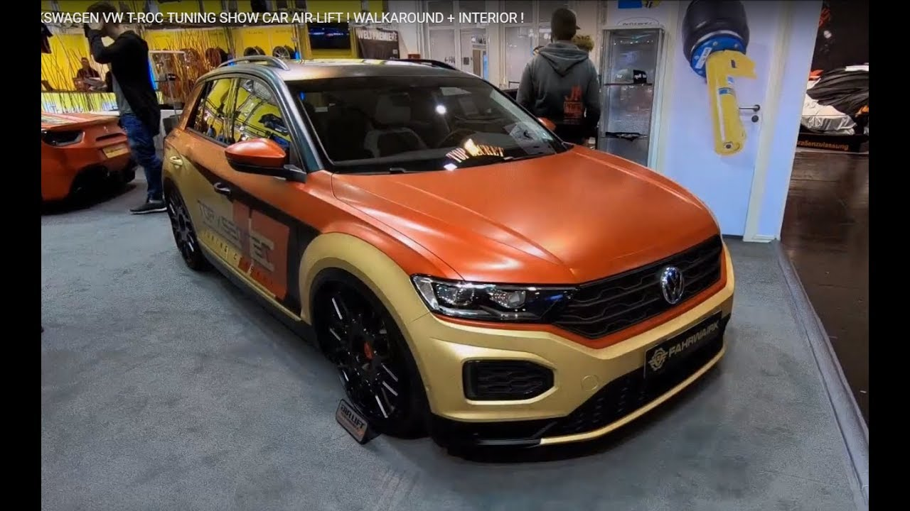 volkswagen vw t roc tuning show car with air lift. Black Bedroom Furniture Sets. Home Design Ideas