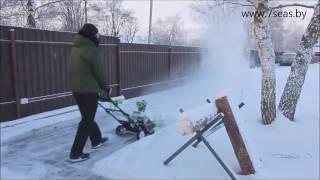 видео Аккумуляторные снегоуборщики