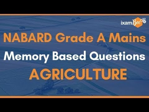 NABARD Grade A Mains Memory Based Paper 2019 | Important Question For NABARD