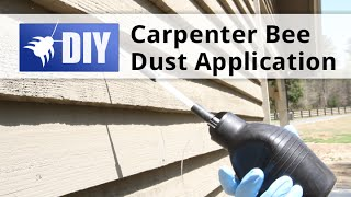 Carpenter Bee Dust Application