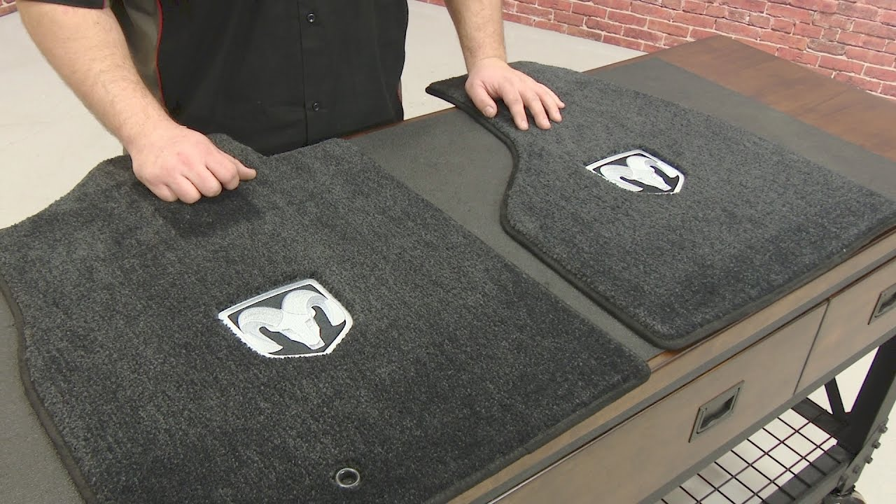 front floors cab logo p dark gray pair lloyd carpeted mats mat with ram crew dodge floor