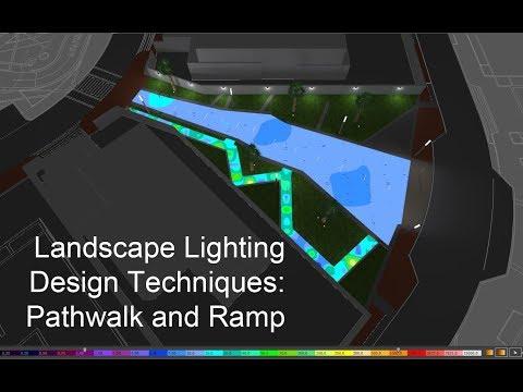 Landscape Lighting Design Techniques:  Pathwalk and Ramp