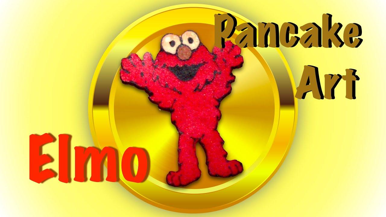 Pancake Elmo (Sesame Street) by KT's Dad Pancake Art