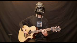 Darth Vader Plays The Imperial March On Guitar