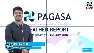 Public Weather Forecast Issued at 4:00 AM January 13, 2018