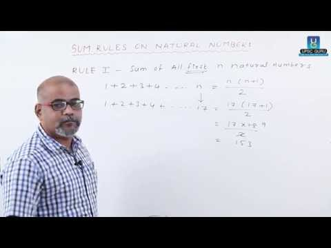 UPSC: Number system: Sum Rules on Natural Numbers