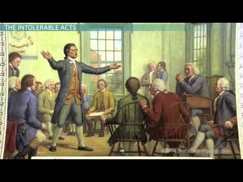 The Boston Tea Party, Intolerable Acts & First Continental C