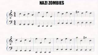 Piano   Nazi Zombies   Easy Piano   Slow   Letter notes