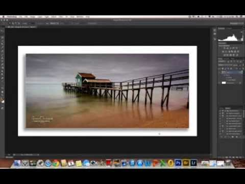Drop Shadow Border Tutorial - Photoshop CS6 - YouTube