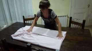 Aprendiendo a doblar la sabana ajustable
