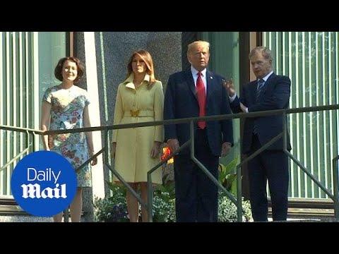 Donald Trump meets Finnish president Sauli Niinisto
