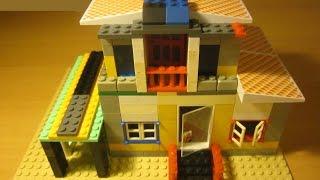 Как сделать дом с гаражом из LEGO
