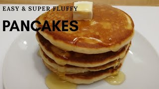 Easy and Super Fluffy no butter Pancakes Recipe