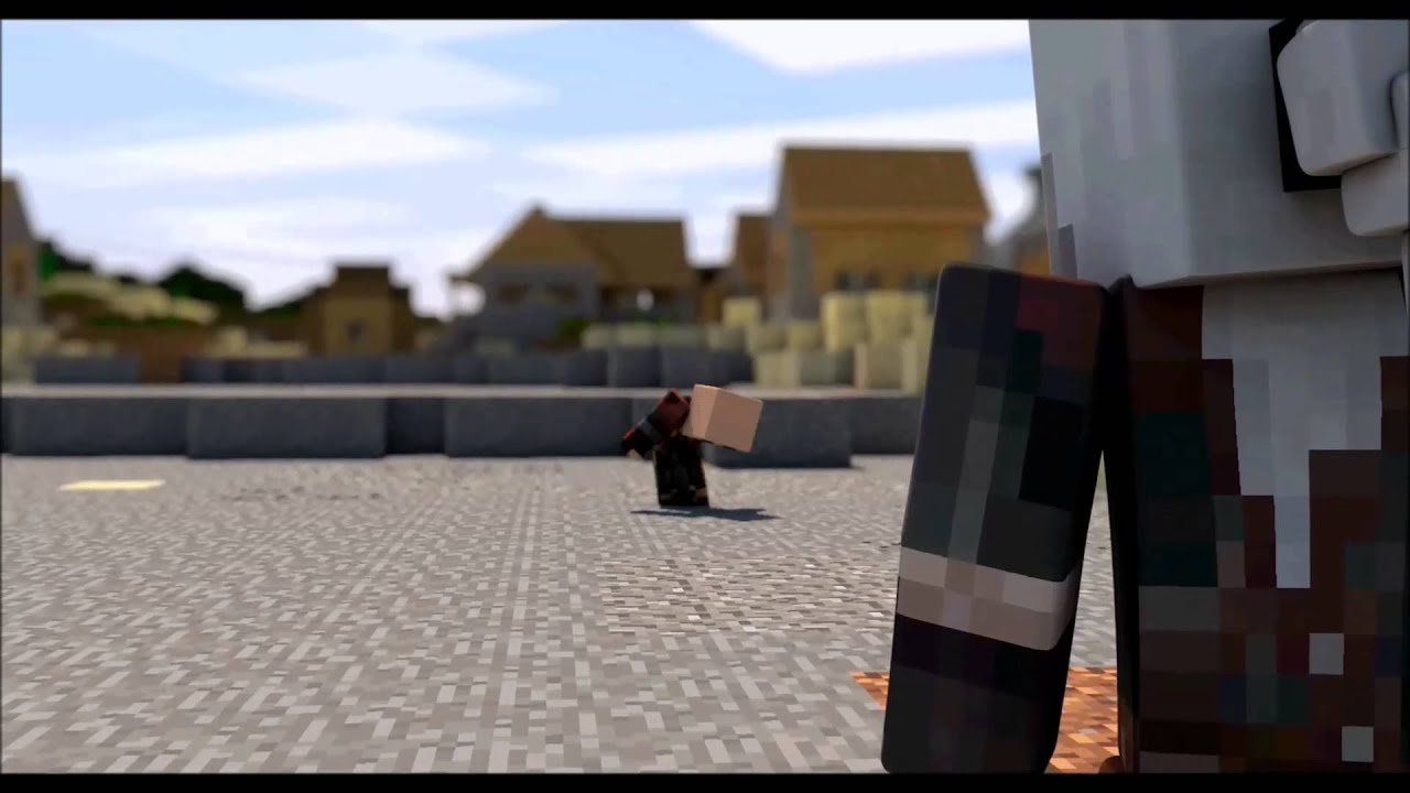The Witcher 10: Killing Monsters Minecraft Fight Animation