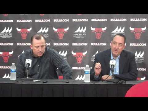 Bulls GM Gar Forman talks NBA Draft
